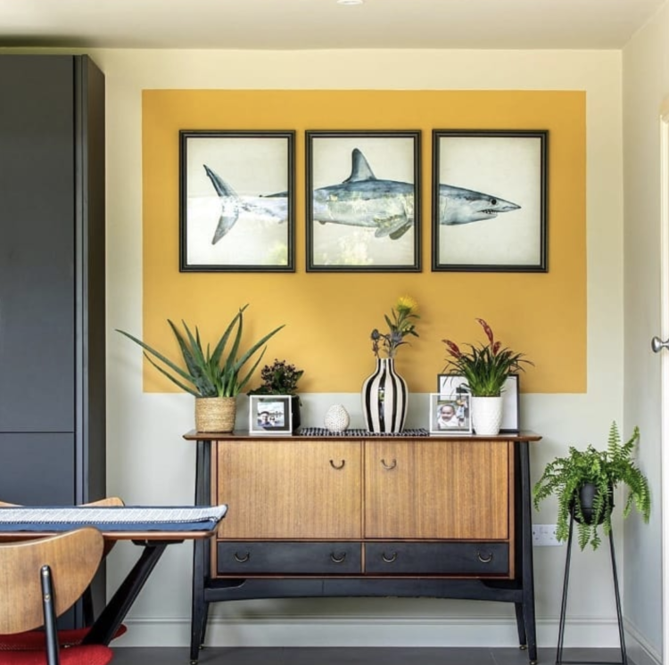 yellow colour blocking by farrow and ball