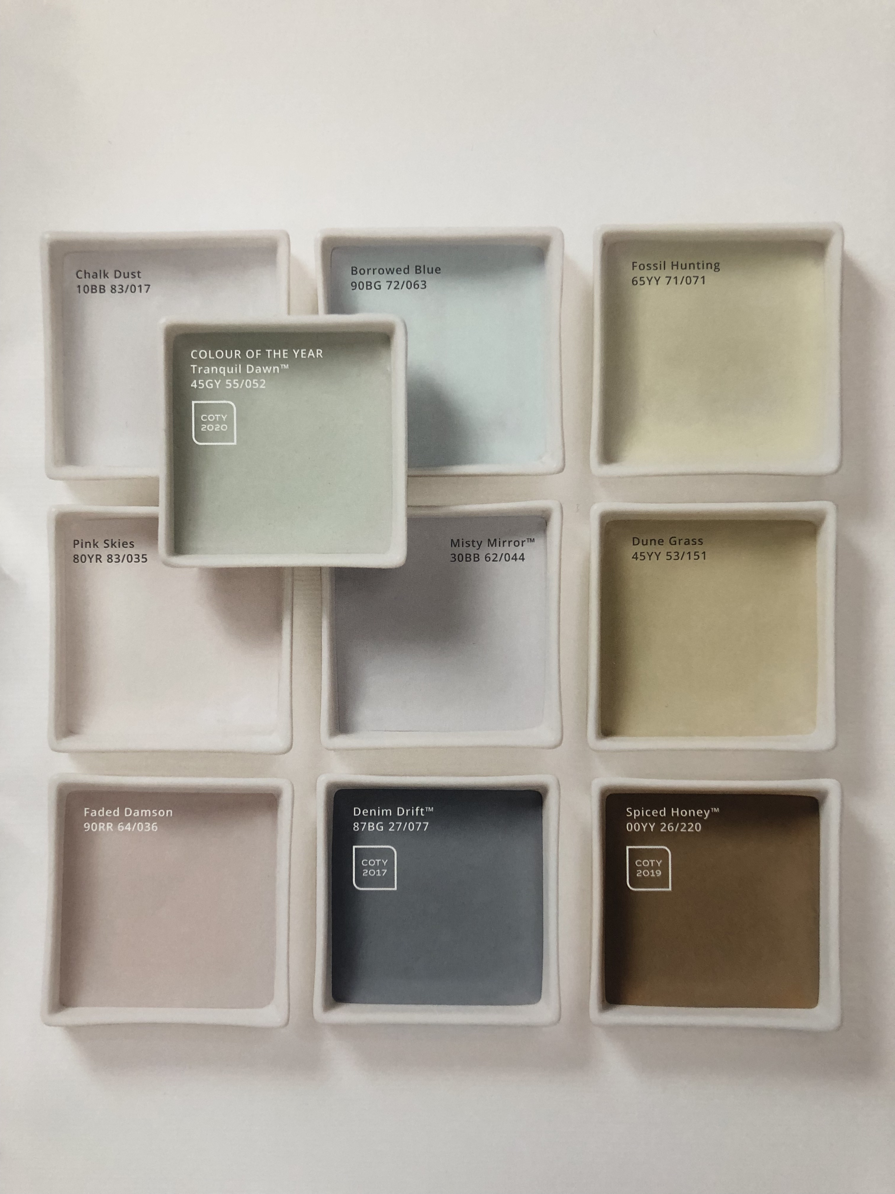 dulux colour of the year spring morning palette