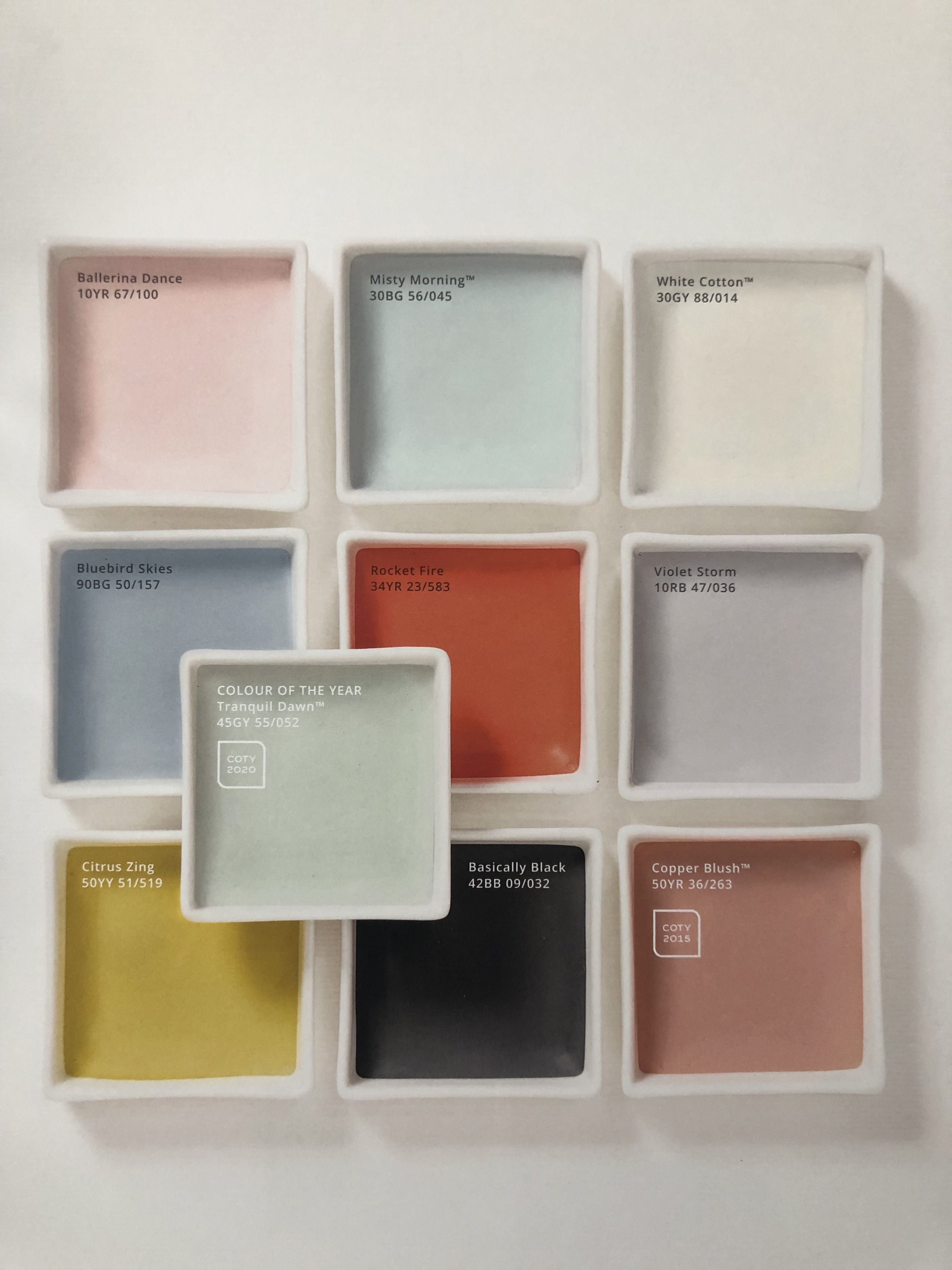 dulux colour of the year summer dawn palette