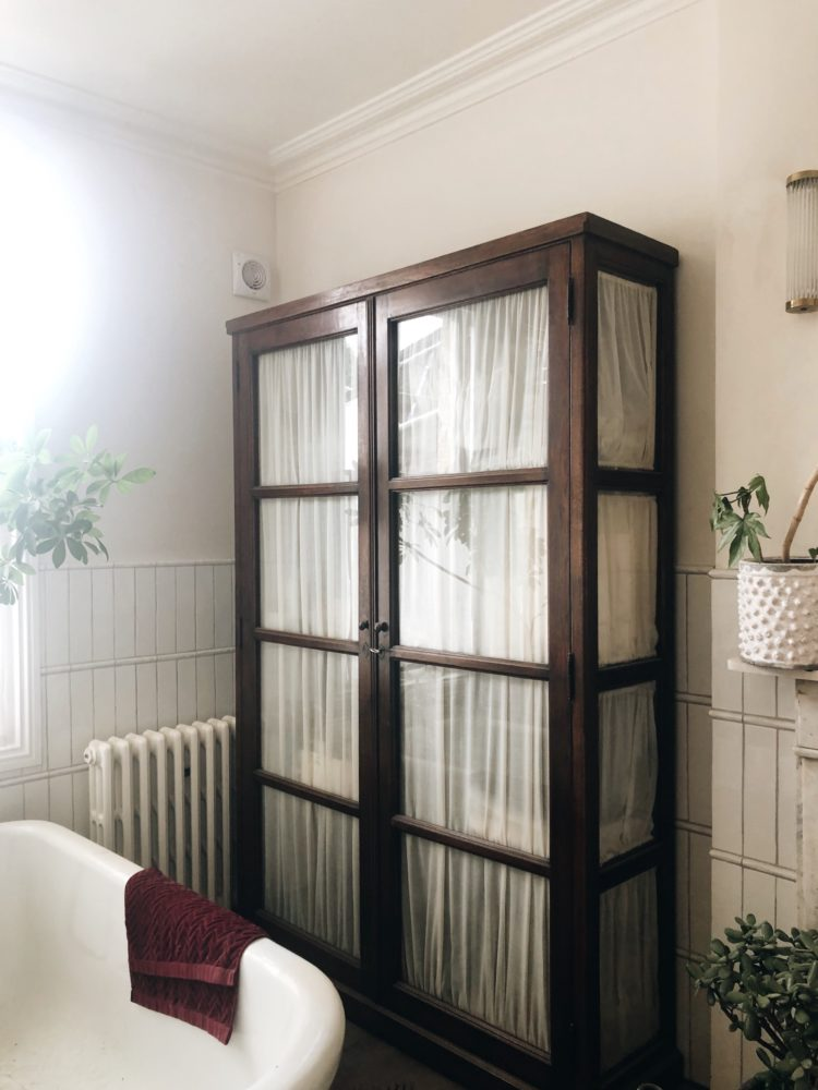 Kate Watson-Smyth and Sophie Robinson takes a house tour with Supper Club host Laura Jackson for the Great Indoors Podcast. Laura jackson vintage cabinet she found in a Belgian market