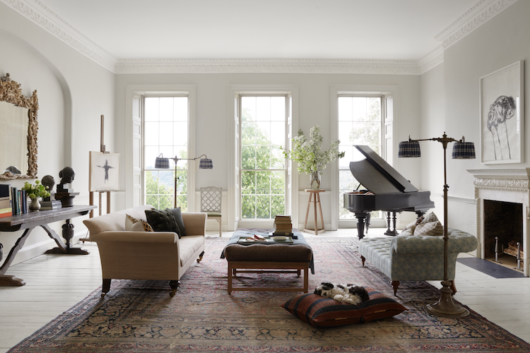 persian rug neutral space