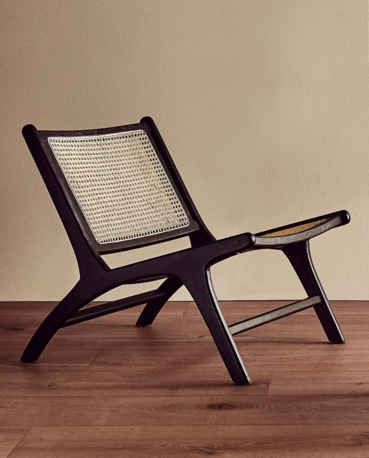 teak and rattan chair from zara.com