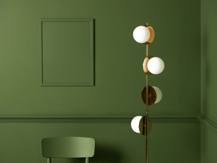 brass opal disk light from houseof: the bulbs swivel so you can direct the light