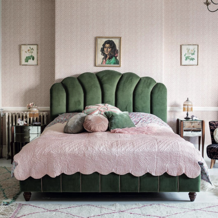 pearl lowe's book Faded Glamour is out now, this is her bedroom