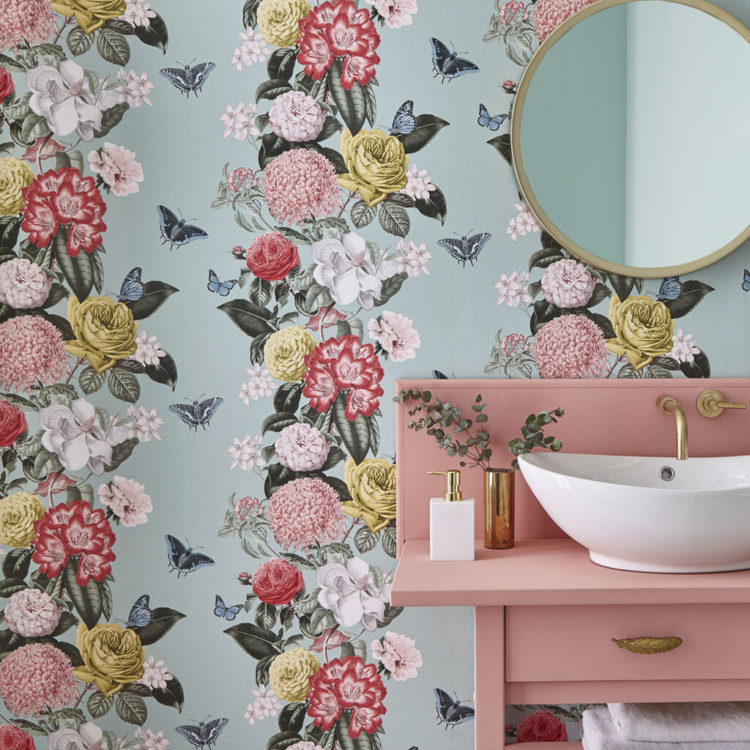 graham and brown wallpaper of the year bloomsbury in neo-mint