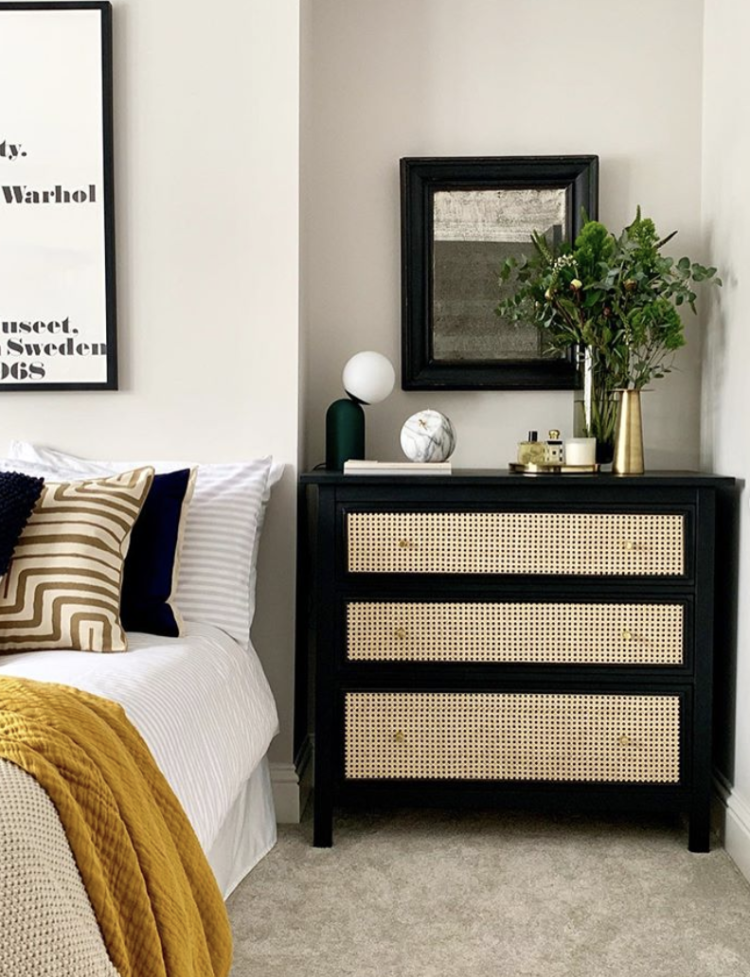ikea drawers cane hack by design at nineteen