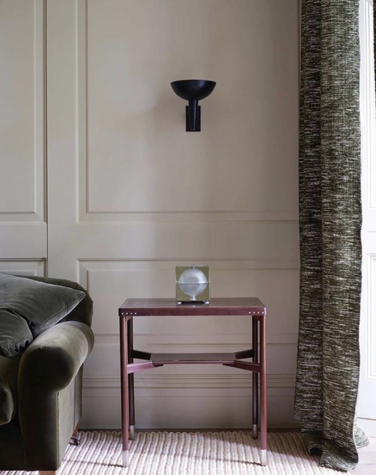 Rose Uniacke Cast Wall Light, Hans Christiansen table & Cubosfera table lamp by Mendini - in a RU project in London