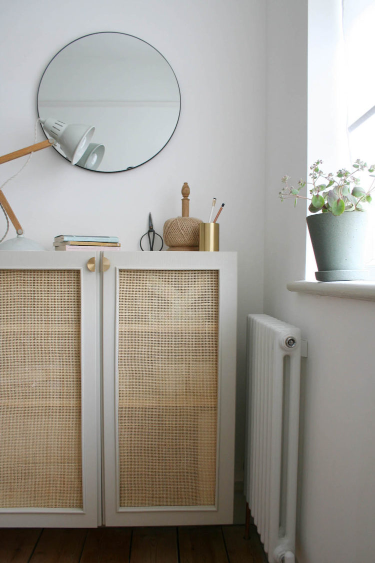 cane cupboard ikea diy hack by apartment apothecary