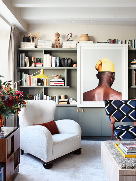 the 600sq ft flat belonging to Sophie Ashby and Charlie Casely Hayford at Television Centre (image from Studio Ashby)