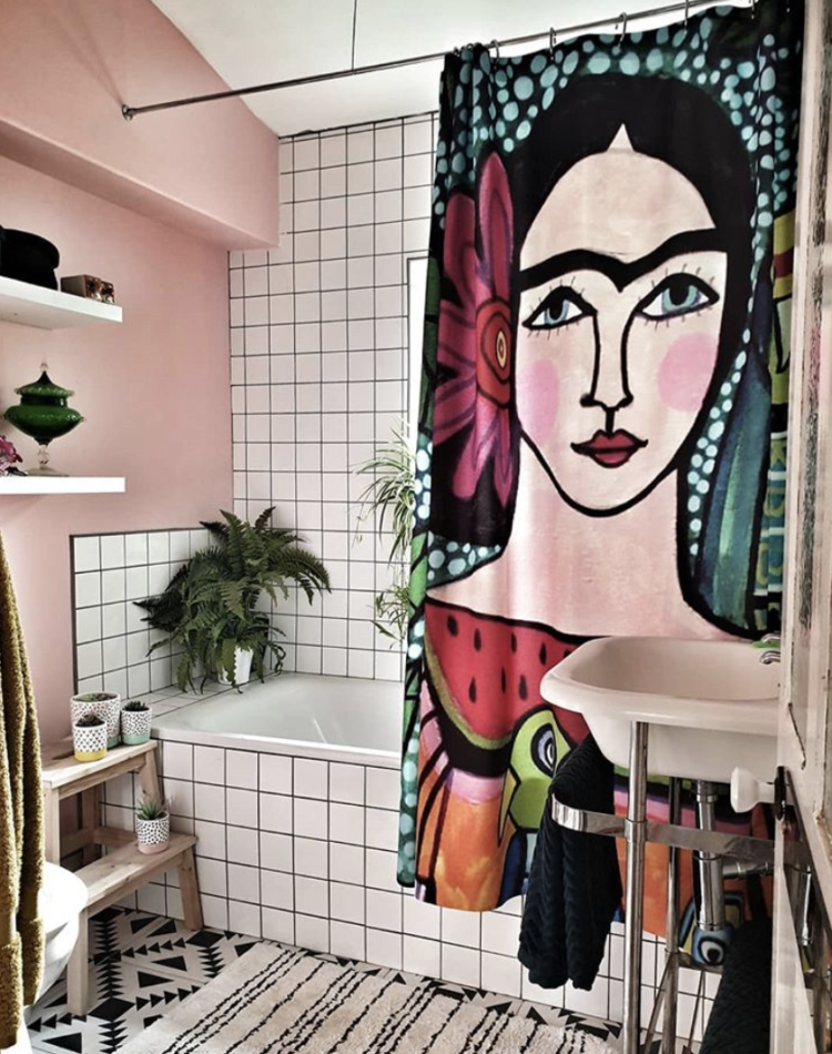 Frida Kahlo shower curtain image by @almost_everything_off_ebay