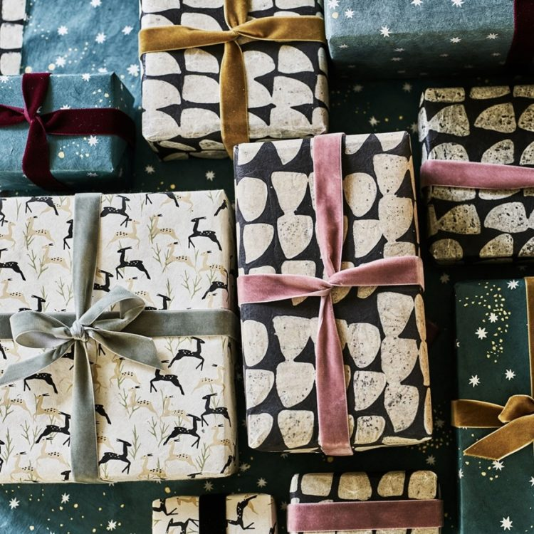 sustainable wrapping paper by rowen and wren
