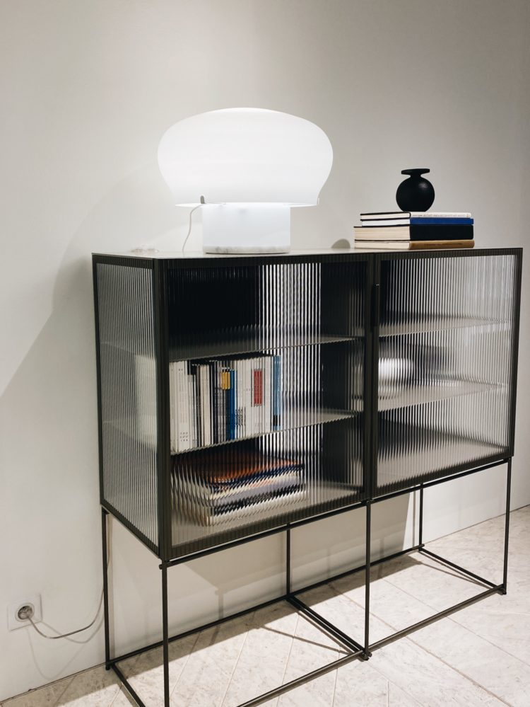 canneletto fluted glass cabinet by ligne roset