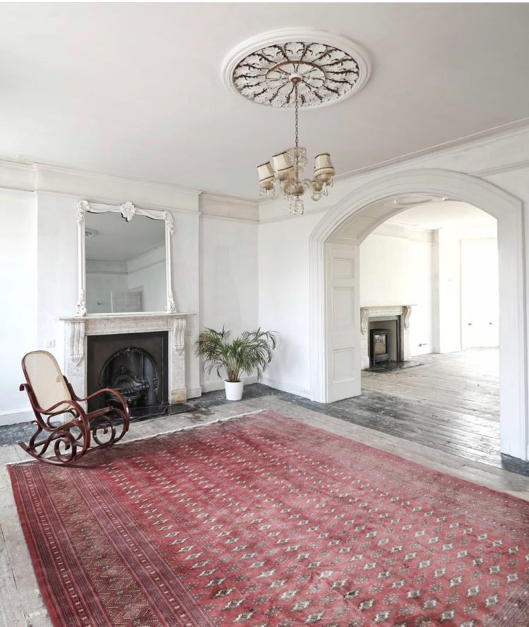 persian rug from ebay via man with a hammer