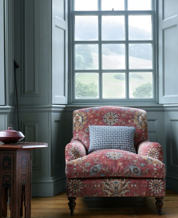 jocasta velvet chair by colefax and fowler