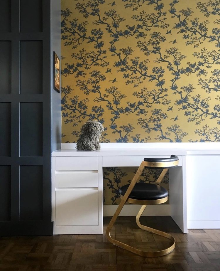 florence broadhurst paper and vintage desk chair by ishka designs