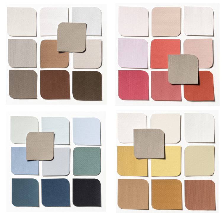 the four dulux coty palettes