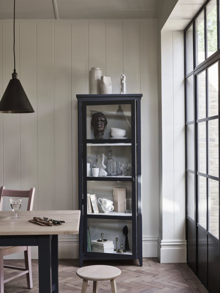 the shepton cabinet from neptune is tall and thin and works in bathrooms, kitchens and offices