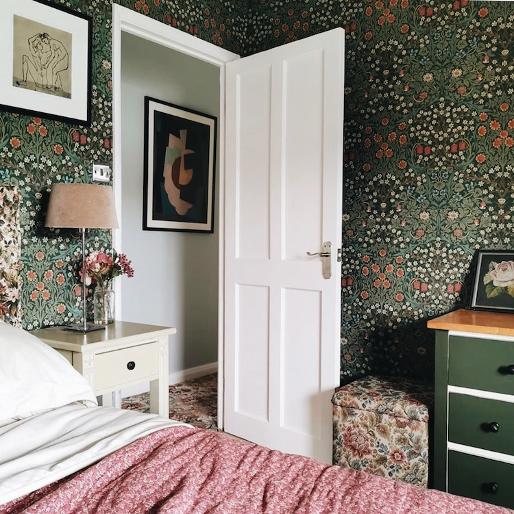 classic william morris in the home of no feature walls