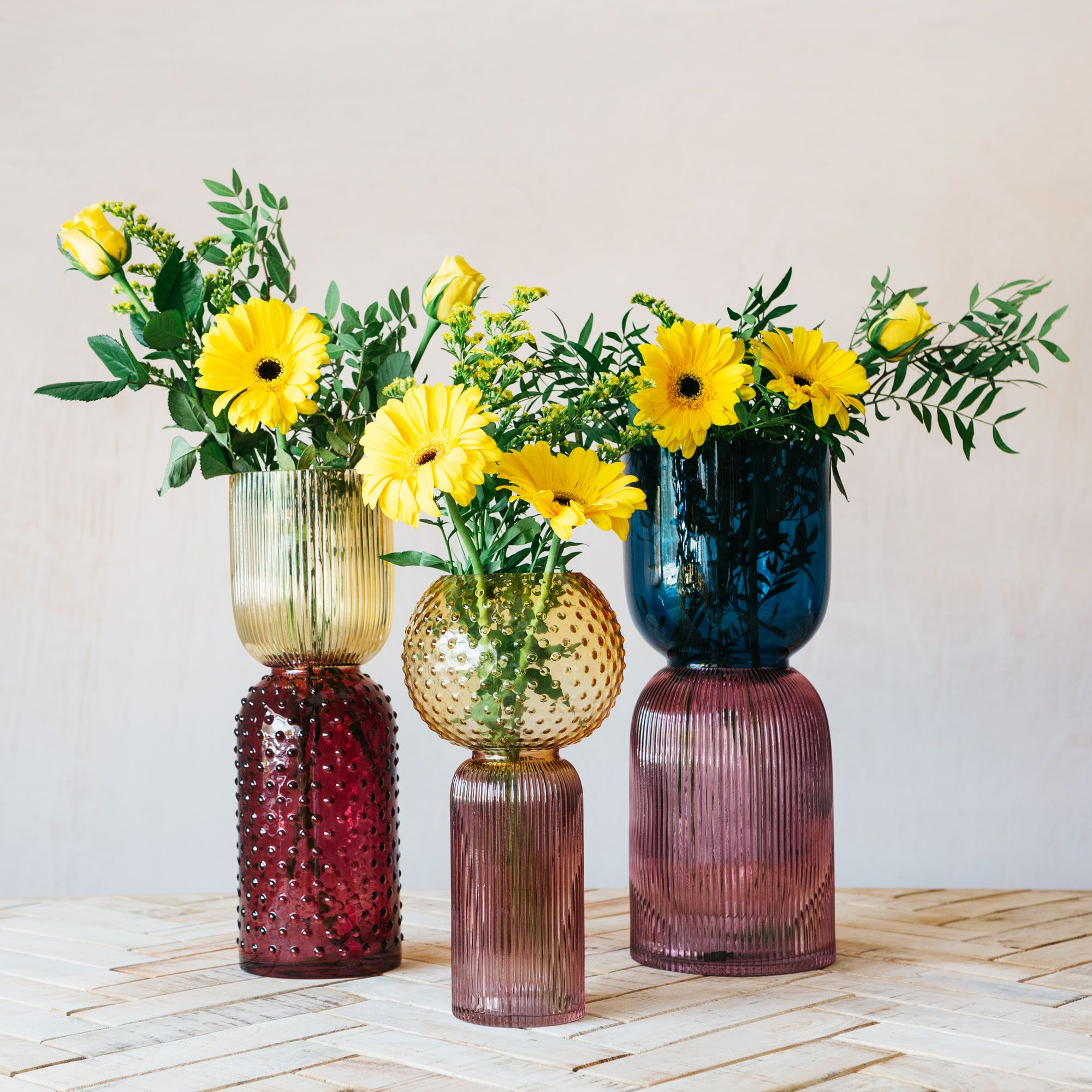 retro glass vases from graham & green