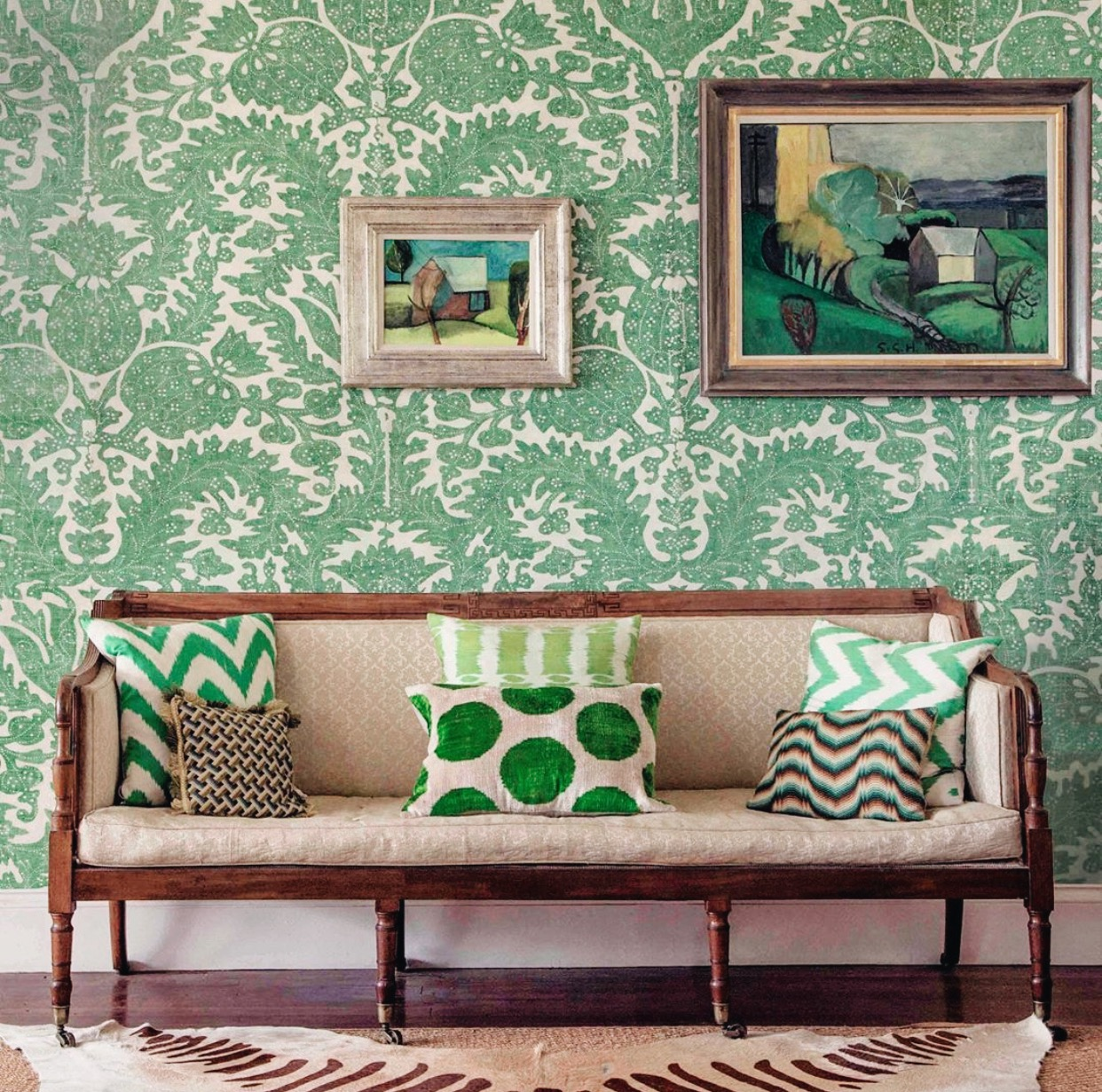 pomegranate wallpaper by tatty lowther