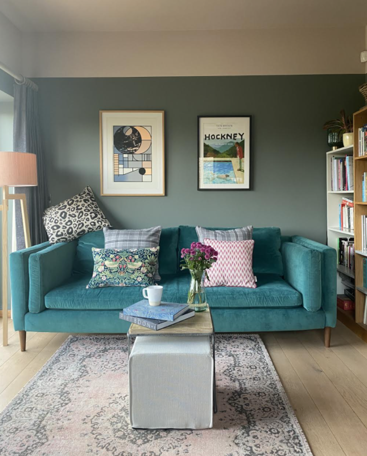 Ruth Mottershead, creative director of Little Greene, has painted her sitting room in Livid and China Clay